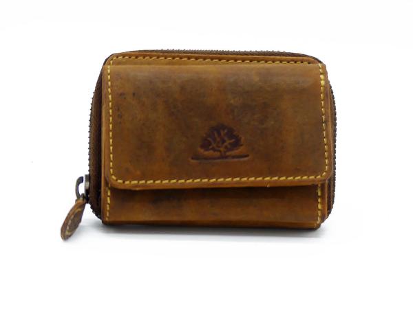 aa0e50409c036 Geldbörse Leder Quair vintage-braun